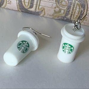 (NWOT) Starbucks Dangle Earrings